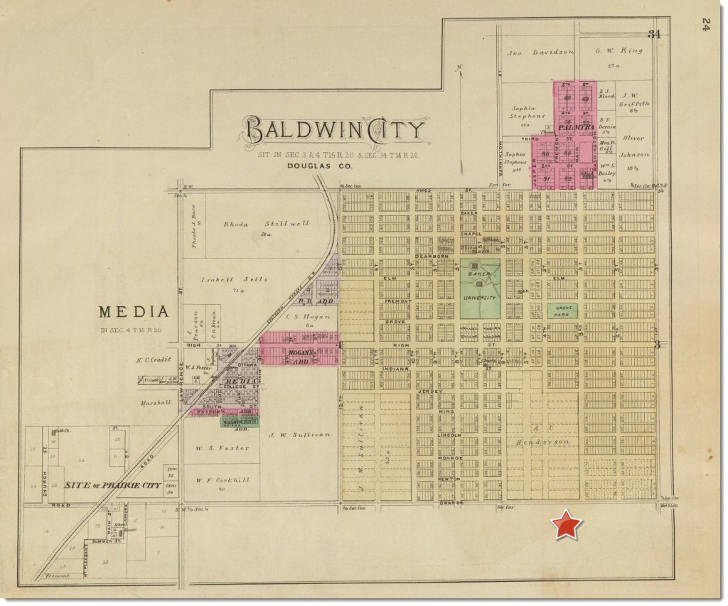 1887-baldwin-city-map-oakwood-marked