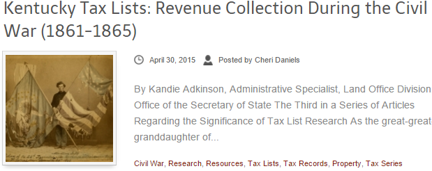 Kentucky Civil War Tax Lists